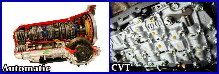 automatic transmission and cvt side by side