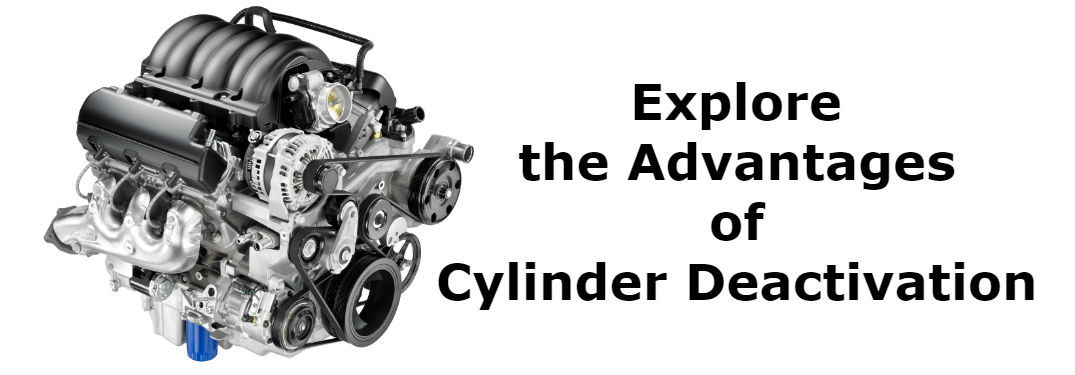 the words Explore the Advantages of Cylinder Deactivation with a V-6 EcoTec3 engine from Chevrolet in 2014