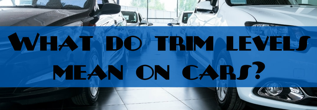 What do trim levels mean on cars? with a generic car background
