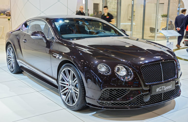 Brown 2016 Bentley Continental GT at Brussels Auto Show