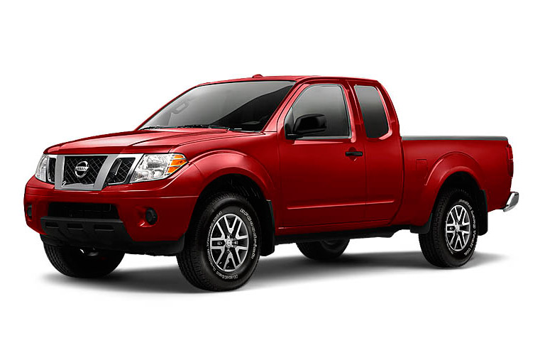 Red 2013 Nissan Frontier.
