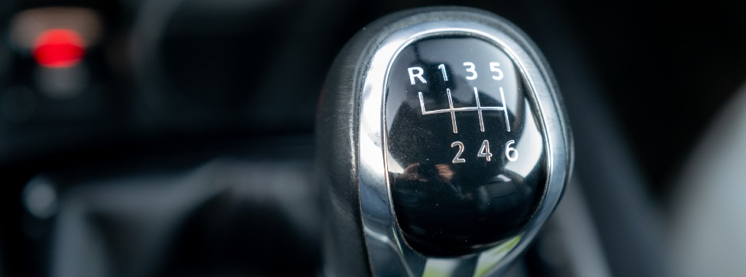 The gear-shifter used by an a manual transmission.