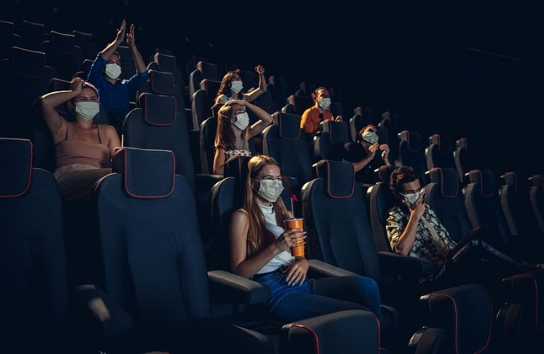 People watching movies in the best movie theaters in the Austin TX area