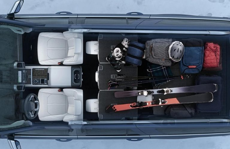 The 2021 Ford Expedition interior space leaves the owner with room to even stow golf bags and strollers when folding back the seats.
