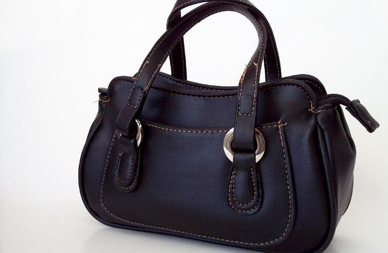 A black handbag