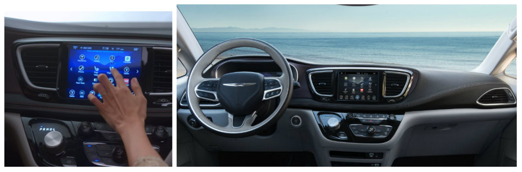 chrysler pacifica interior technology leather