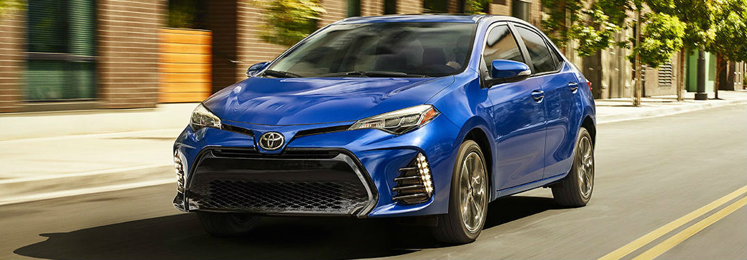 2018 Toyota Corolla in blue