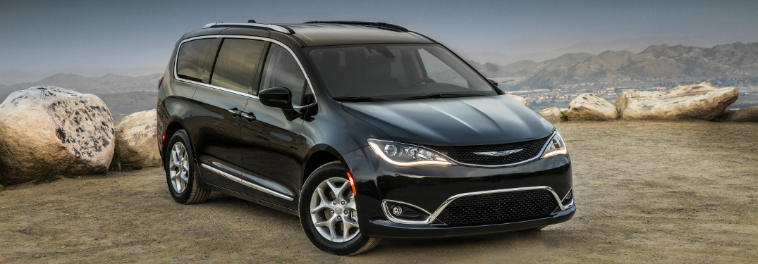 2017 Chrysler Pacifica in black on the shore