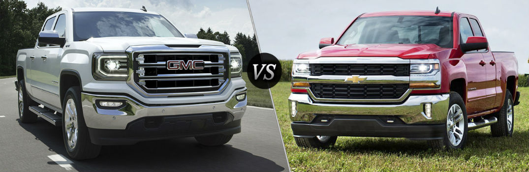 how does the gmc sierra compare to the chevy silverado. Black Bedroom Furniture Sets. Home Design Ideas