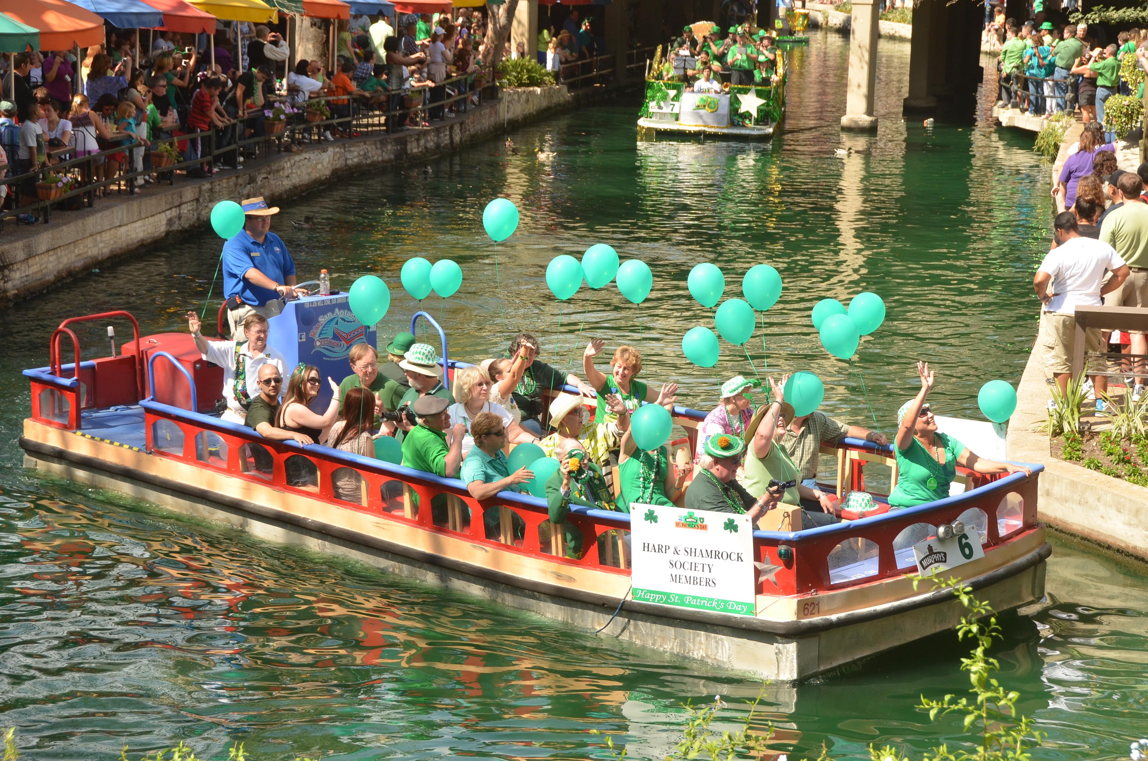 St. Patricks Day, San Antonio. San Antonio River Walk, Events, Holiday, San Antonio Events, Family fun, Family friendly