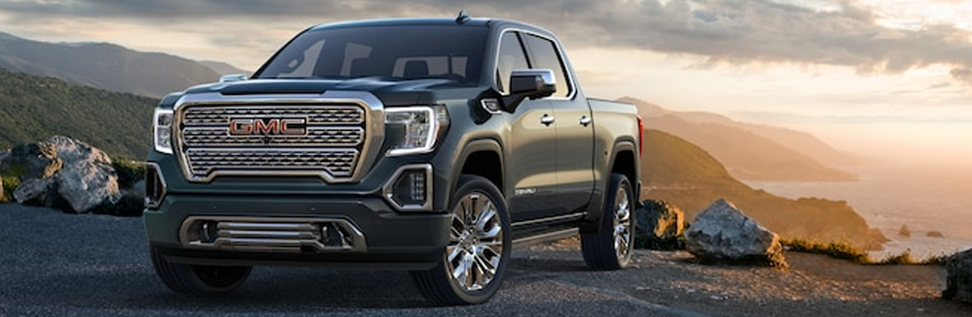 Exterior view of a gray 2019 GMC Sierra 1500