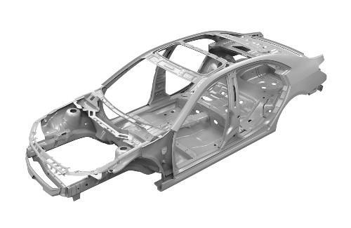 frame of a car