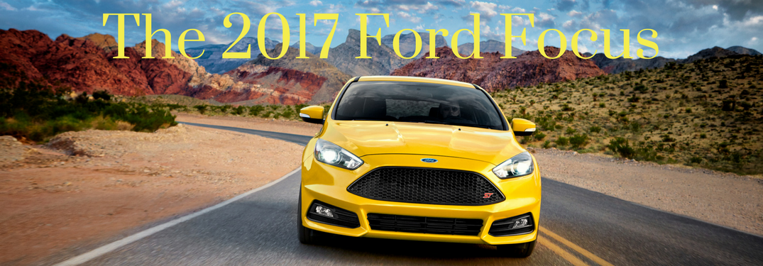 2017 ford focus yellow front view