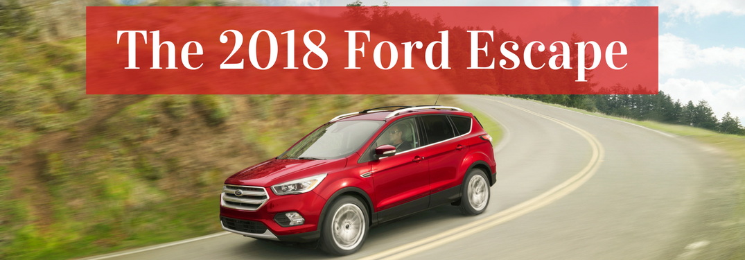 2018 Ford escape red side view
