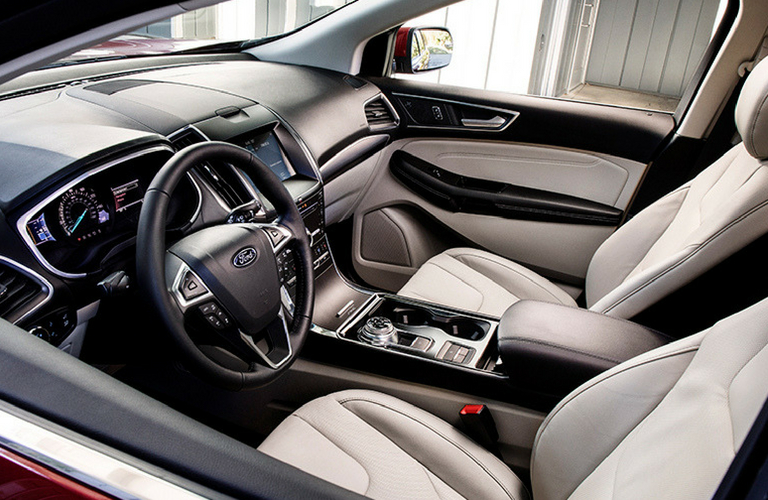 Ford Edge Front View Of Interior