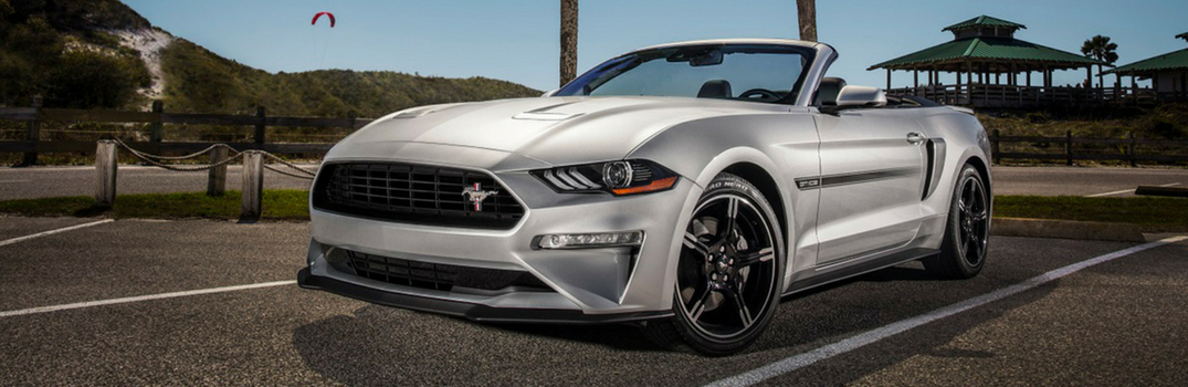 2019 Ford Mustang driving on road