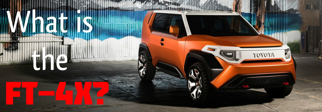 What is the 2018 Toyota FT-4X Concept Vehicle?