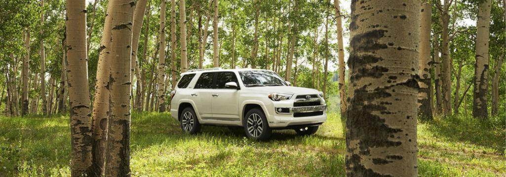 Front exterior image of a white 2018 Toyota 4Runner