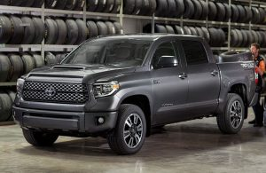 2018 Toyota Tundra in a showroom