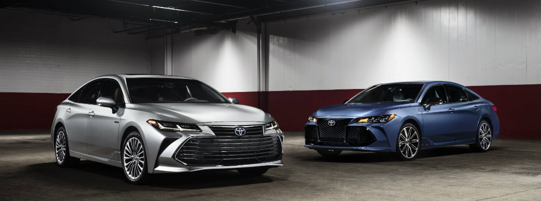 Two 2019 Toyota Avalon models side-by-side