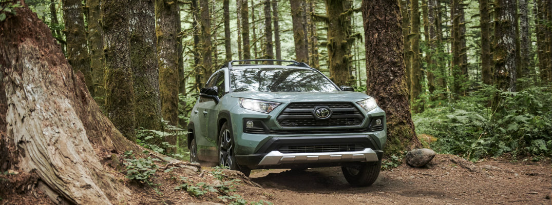2019 Toyota RAV4 on the trail