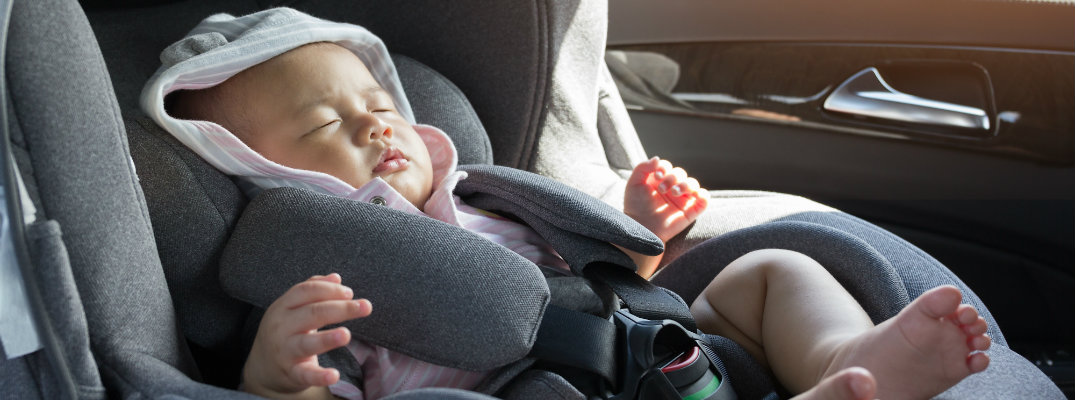 A baby in a car seat
