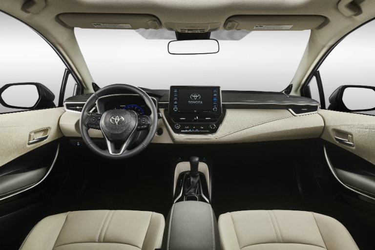 Cabin of the 2020 Toyota Corolla