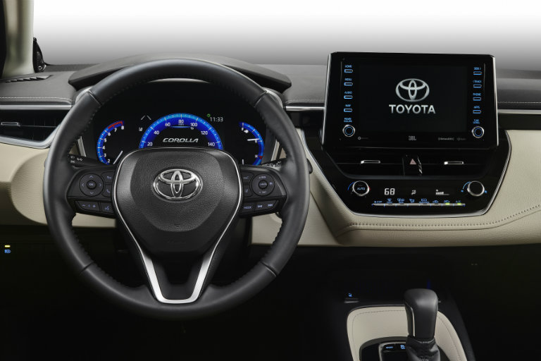 Steering wheel in the 2020 Toyota Corolla