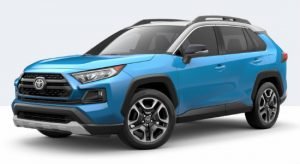 2019 Toyota RAV4 Adventure in Blue Flame Ice Edge Roof