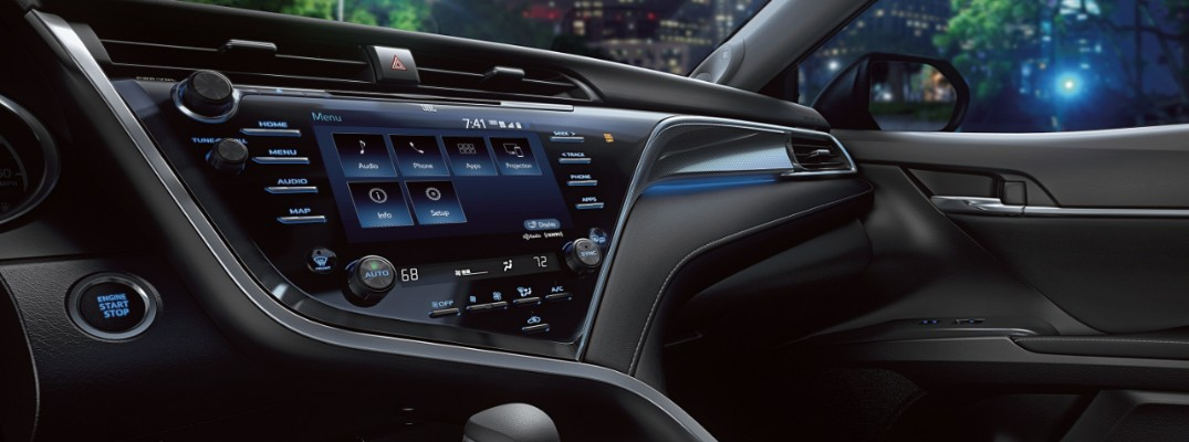 2019 Toyota Camry's touchscreen and dashboard