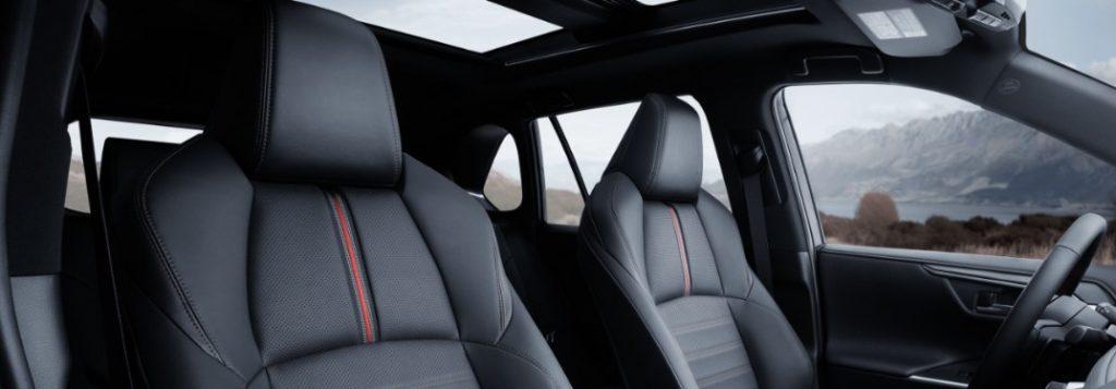Cabin of the 2021 Toyota RAV4 Prime