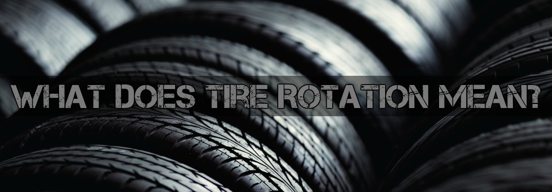 what does tire rotation mean with tire tread background