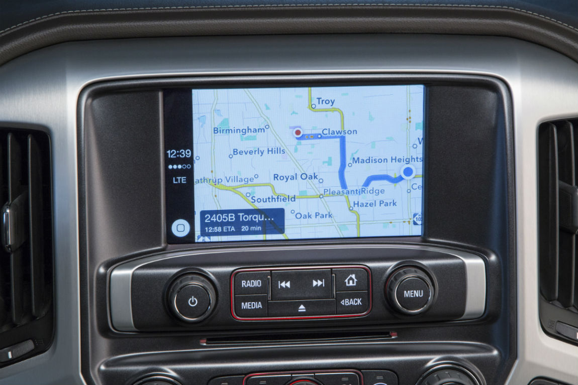Touchscreen display of the 2017 GMC Sierra 1500