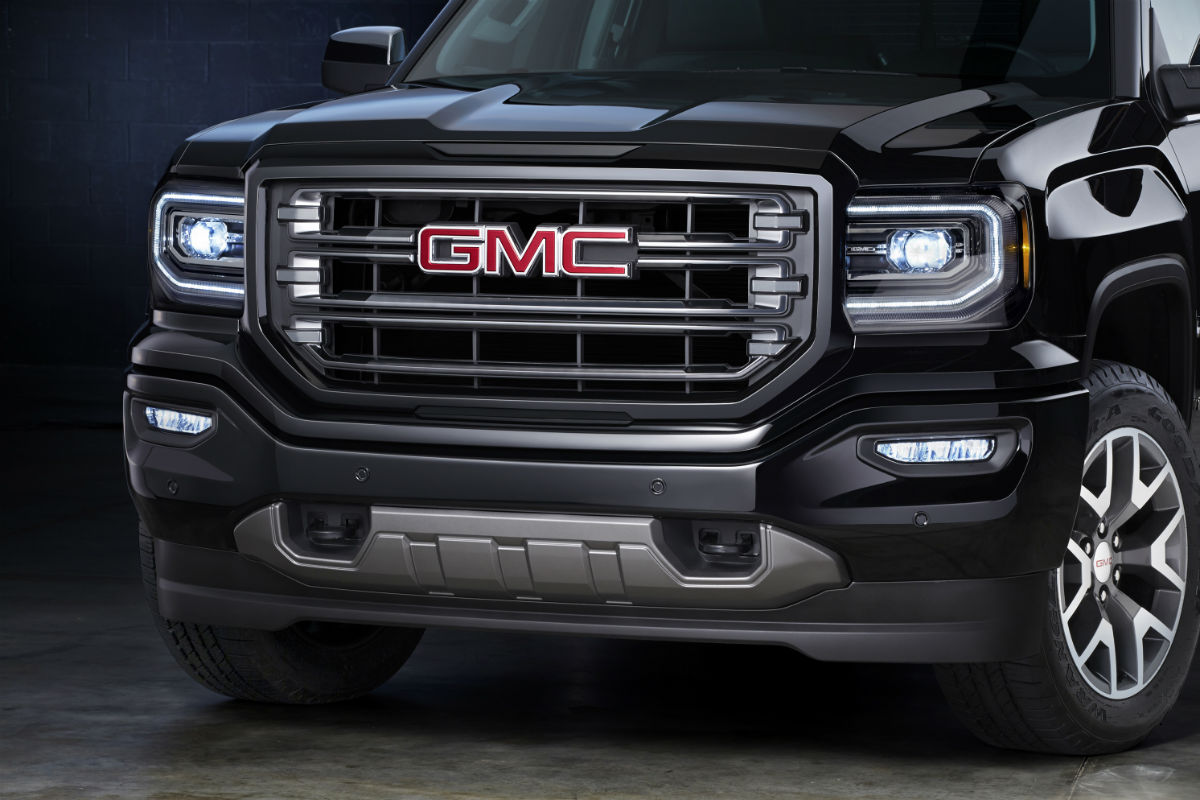 Front grille of the 2017 GMC Sierra 1500