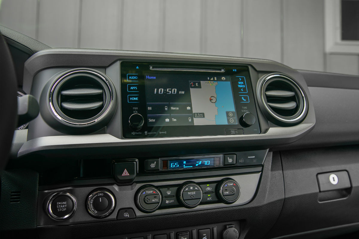 Center-mounted display screen of the 2017 Toyota Tacoma