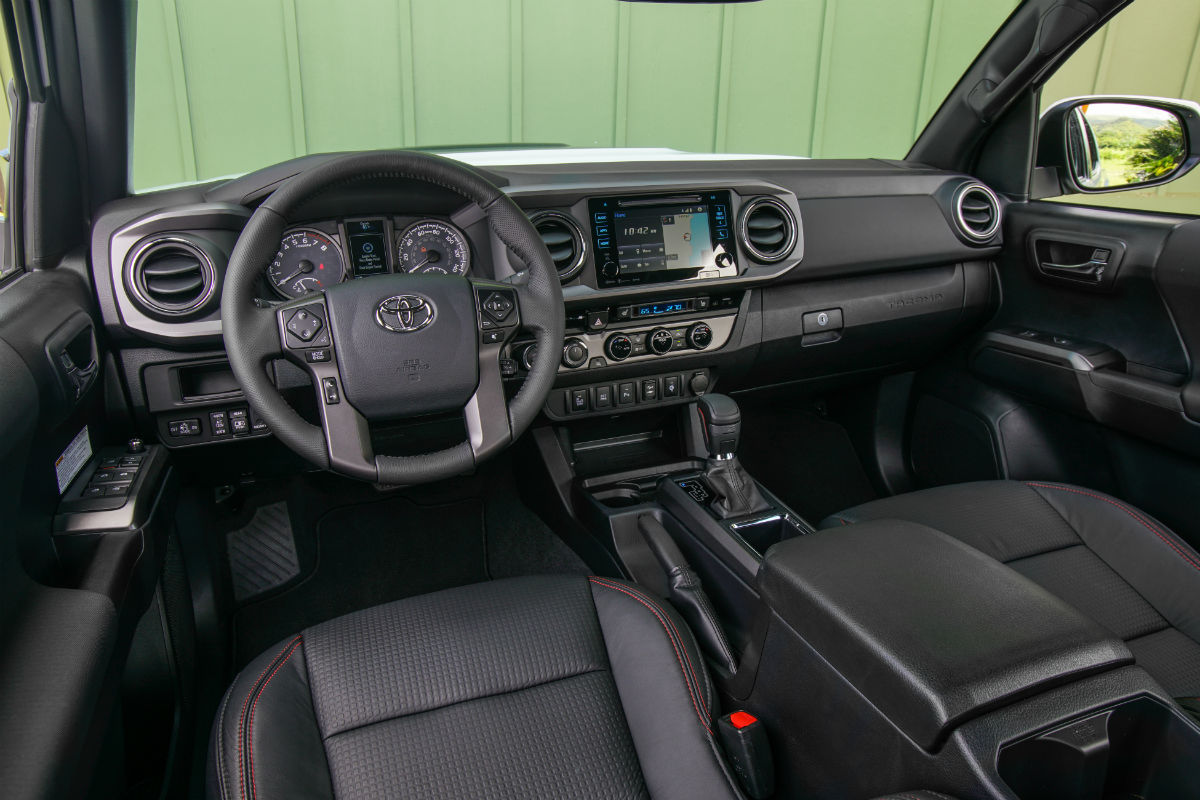 Driver's cockpit of the 2017 Toyota Tacoma