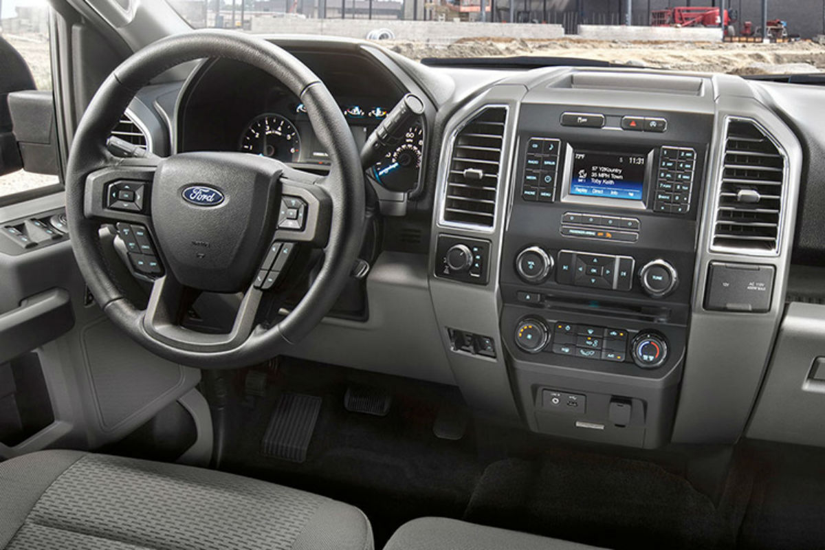 Driver's cockpit of the 2017 Ford F-150