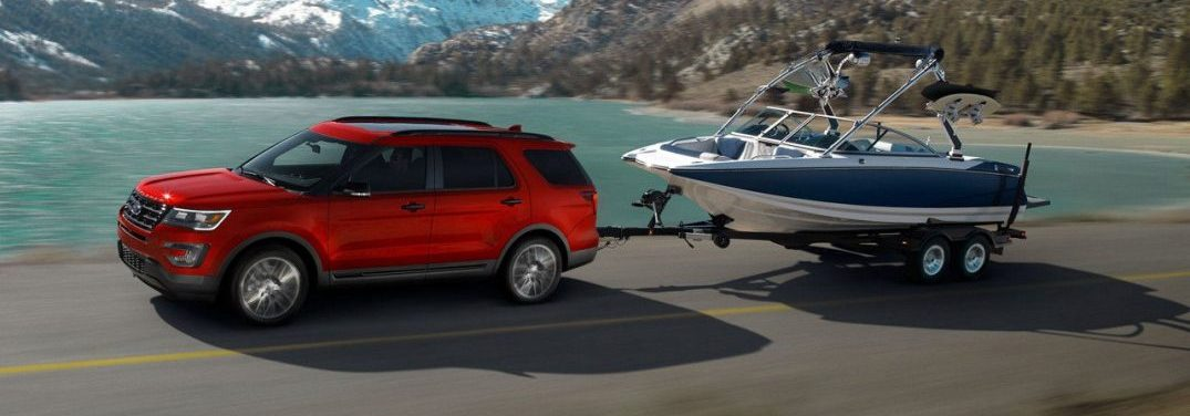 Ford Explorer Towing A Boat