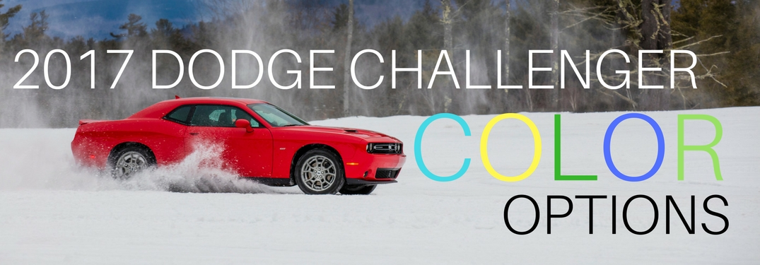 2017 Dodge Challenger driving in snow