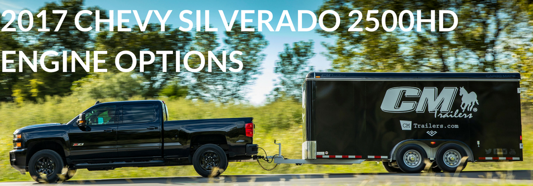 2017 Chevy Silverado 2500HD towing a trailer side view