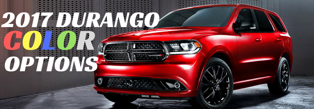 2017 Dodge Durang in red