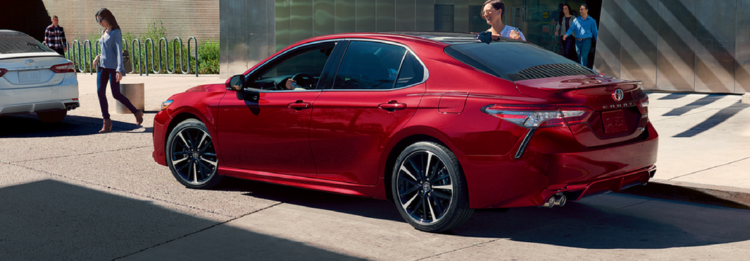 2018 Toyota Camry in red