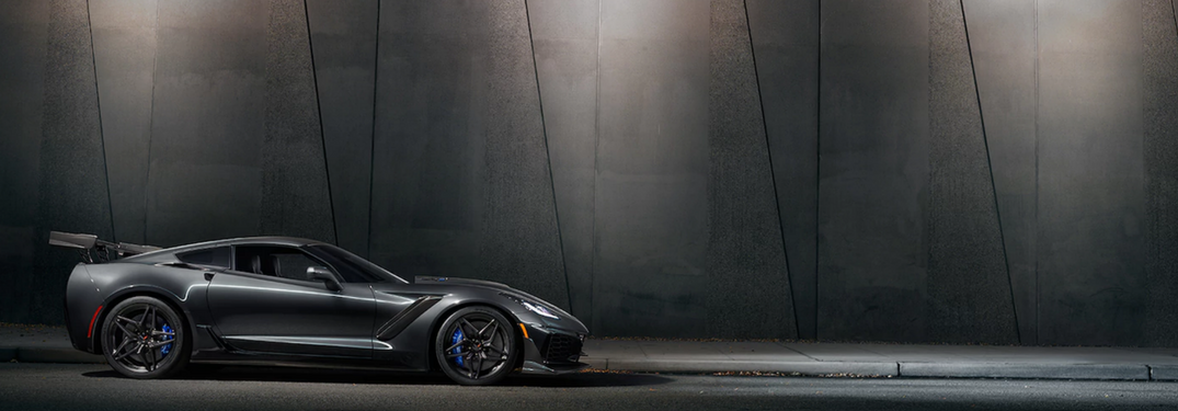 2019 Chevy Corvette ZR1 Supercar in gray side view