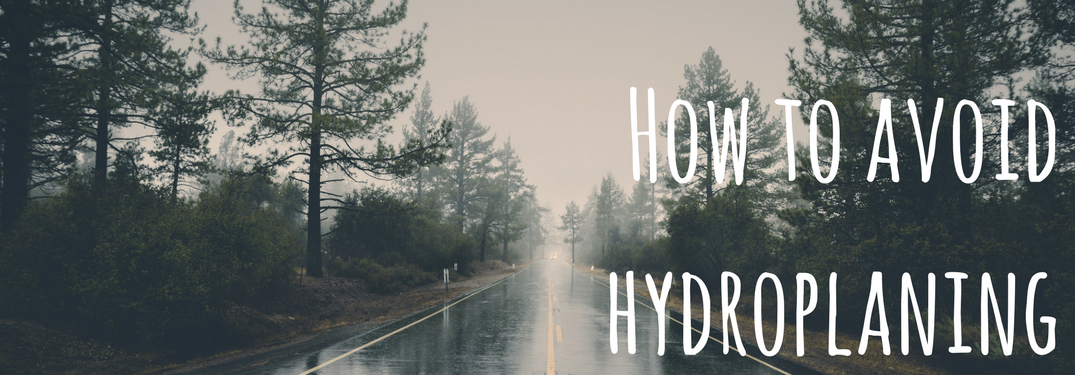 Hpow to Avoid Hydroplaning on wet road background