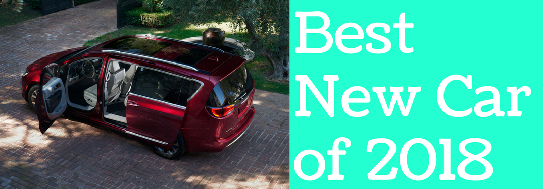 Chrysler Pacifica next to Best New Car of 2018