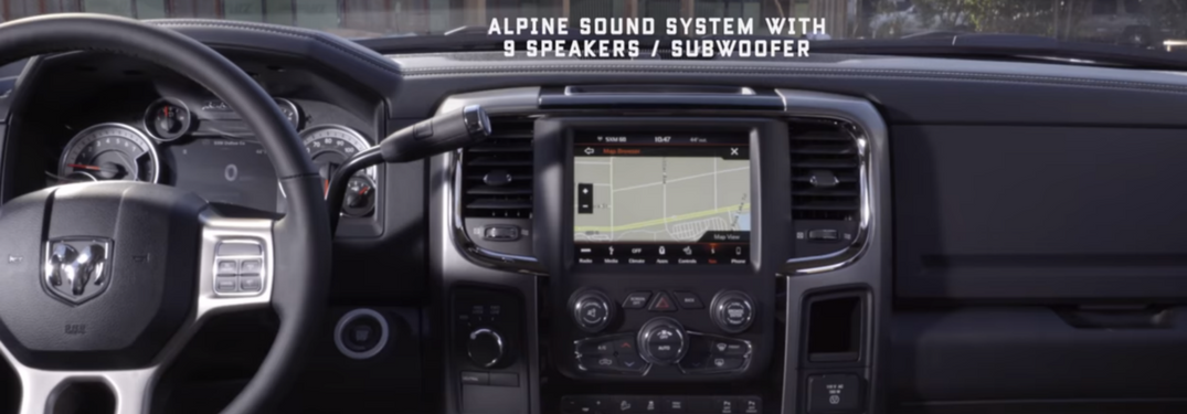 Screen shot of 2018 ram 3500 Laramie features videos