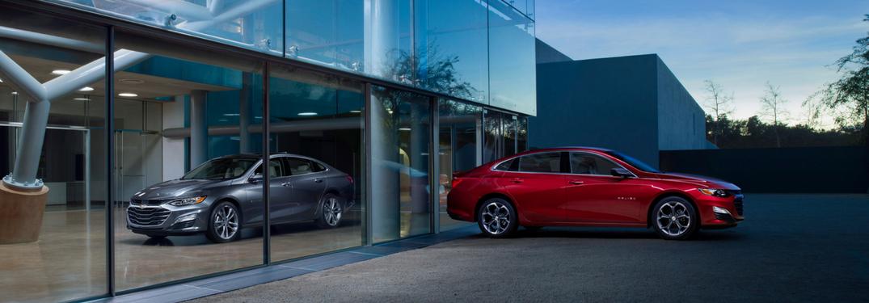 2019 Chevy Malibu in red & gray