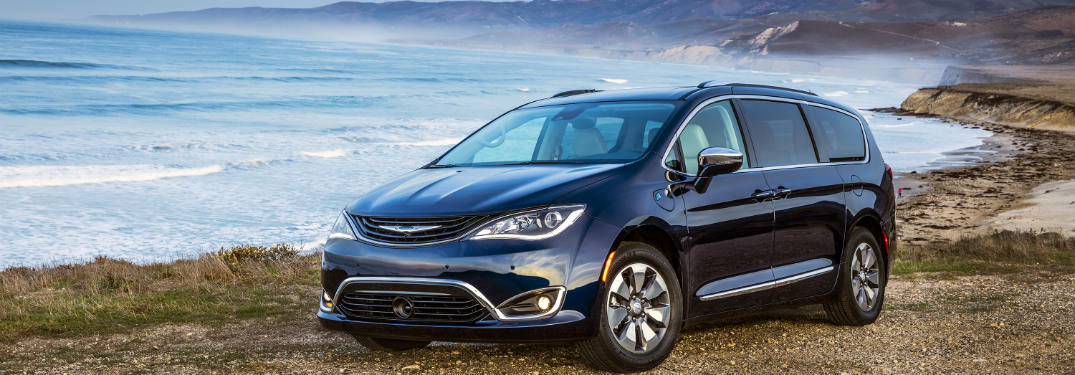 2018 Chrysler Pacifica Hybrid parked on the beach