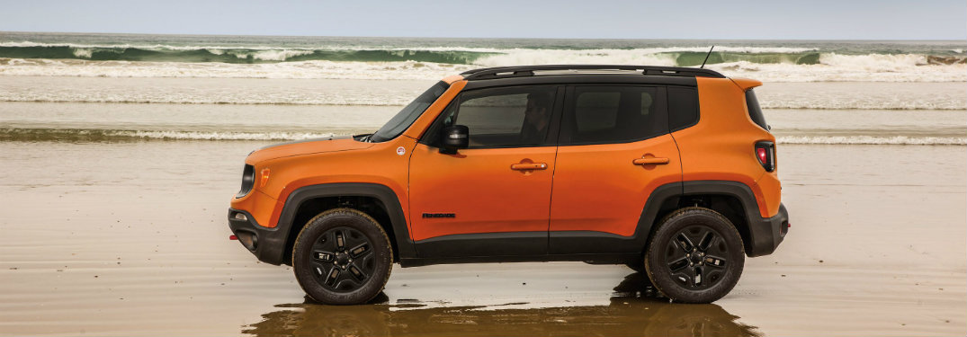 2018 Jeep Renegade on the beach