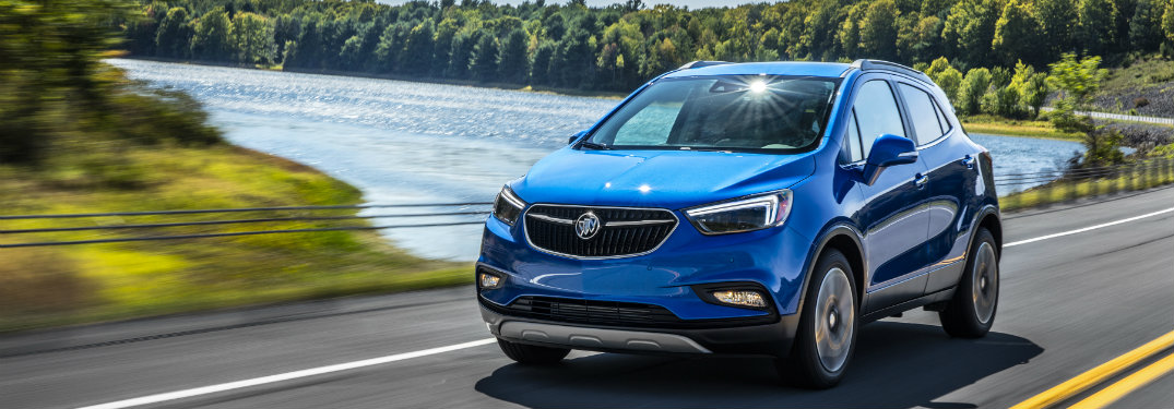 2019 Buick Encore driving down a road